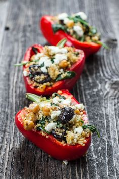 Stuffed peppers, Greek style