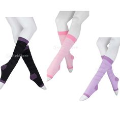 c53d2a8715 3.03AUD - Open Toe Leg Calf Slimming Support Varicose Veins Compression  Socks Stockings #ebay