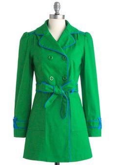 Emerald School Coat, #ModCloth