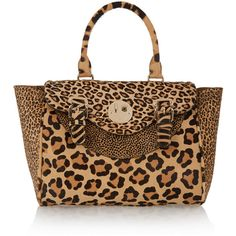 Hill & Friends Happy Satchel leopard-print calf hair tote ($2,635) ❤ liked on Polyvore featuring bags, handbags, tote bags, purses, animal print, handbag satchel, animal print tote, leopard tote, handbags purses and handbags totes