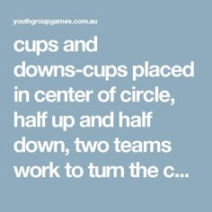 cups and downs-cups placed in center of circle 41de1c5c5938f
