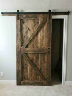 Barn Door – Sliding 2 Panel Z Style – Walston Door Company – Modern farmhouse – door Barnwood Doors, Wooden Sliding Doors, Wood Barn Door, Interior Sliding Barn Doors, Diy Barn Door, Rustic Barn Doors, Barn Style Sliding Doors, Barn Door White, Barn Door To Bathroom