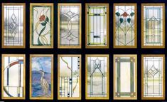 stained glass kitchen cabinets | Cabinet Door Designs in Stained Glass