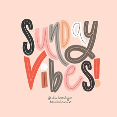 Typography Designs By Chloe Turner Typography Quotes, Typography Letters, Typography Inspiration, Typography Poster, Graphic Quotes, Brush Lettering, Lettering Design, Happy Sunday Quotes, Weekday Quotes