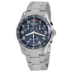 Swiss Army 241120 Men's Chrono Classic Blue Dial Stainless Steel Bracelet Watch - Discount Watch Store