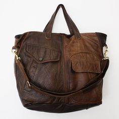 Shannon South reclaimed leather bags-love.