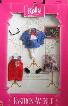 Barbie KELLY Fashion Avenue School Time Clothes (1997) Kelly, Baby Sister of Barbie Doll, Fashion Avenue Collection http://www.amazon.com/dp/B001QXSO94/ref=cm_sw_r_pi_dp_7qvXtb0122BD50E4