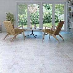 Ideny Moonlight White Cork Floor
