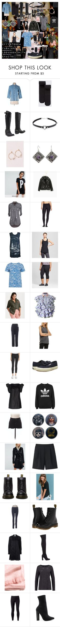 Effy Stonem Fashion Lookbook (With Exacts) by oroartye-1 on Polyvore featuring Maison Margiela, 3.1 Phillip Lim, Puma, Others Follow, Supersweet, The Nu Vintage, Left of Center, Torrid, adidas and People Tree