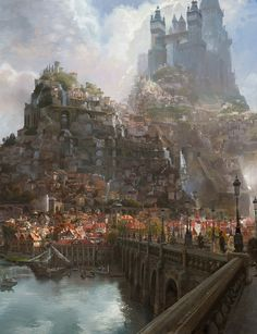 Tangled - The Kingdom of Corona by Craig Mullins / United States http://www.goodbrush.com/