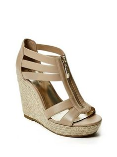 Lyla Espadrille Wedges at Guess