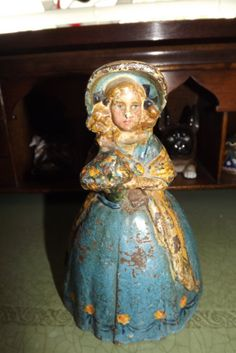 Figural Antique Cast Iron Door Stop Lady with by ALoveForThePast, $75.00