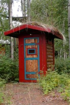 Throne, sweet throne: Alaska outhouses have comfort, style, views and personality Lake Cabins, Old Farm, Garden Structures, Shed Plans, Coops, Alaska, Garden Design, Just For You, Building