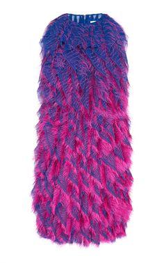 824d3e566c5 Dégradé Fringe Ruffle Dress by Maison Margiela