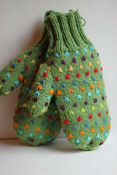 STAMP * STITCH * CREATE: thrum mitts Warm cozy and pretty!