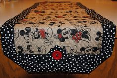 Oh My Gosh - a Mickey and Minnie burlap table runner.  So cute - this shop has so many cute table runners,.
