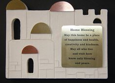 Jerusalem Home Blessing - Jewish Gift - Judaica - Housewarming Gift - Home Decor - Wall hanging - Hebrew and English on Etsy, US$49,00