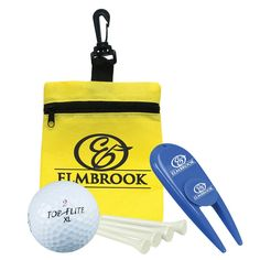 7cae3e684a Golf-in-a-Bag Gift Set Golf gift set with divot repair & ball marker, Value  Golf ball, set of 4 tees all placed inside a mini zippered non-woven bag.
