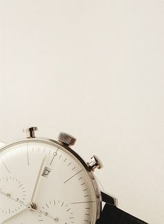 Junghans Max Bill Chronoscope—Cereal Magazine Vol 10 Watches Photography, Jewelry Photography, Product Photography, Atomic Watch, Cereal Magazine, Watch Photo, Brighton Jewelry, Fashion Watches, Men's Fashion