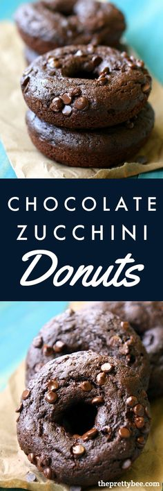 The perfect way to use up some zucchini - make these chocolate zucchini donuts! A delicious dessert or breakfast recipe that the whole family will love!