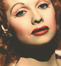Lucille Ball. My all time fav, and this is the most beautiful pic I've seen of her
