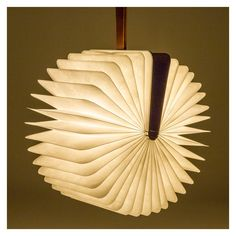 <p>When closed, Lumio's Book Lamp masquerades as a hardcover tome, but when opened, it transforms into a sculptural light.</p>