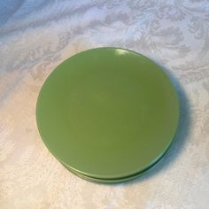 Vintage Melamine Green Dessert Plates by vintagepoetic on Etsy