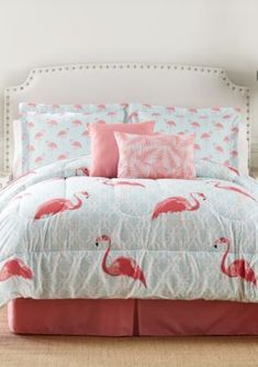 Home Accents Flamingo 6-Piece Bed-In-A-Bag - Pink - Twin #flamingo