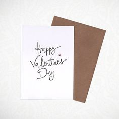 Happy Valentine's Day Greeting Card by KatieNovakArt on Etsy