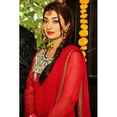 Ayesha Khan in Red Dress