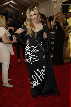Red Carpet Watch: Met Gala 2015 - NYTimes.com - Madonna in Moschino.