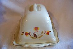Image detail for -HALL China, Autumn Leaf One Pound Butter Dish from judyscollections on ...