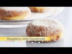 Raspberry Jam Doughnuts Recipe by Anna Olson : Food Network UK Baking Recipes, Cake Recipes, Dessert Recipes, Desserts, Jam Doughnut Recipe, Yolanda Cakes, Anna Olsen, Tiramisu, Mousse