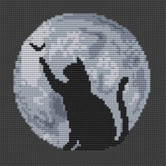 Fall Cross Stitch, Cross Stitch Books, Modern Cross Stitch, Cross Stitch Charts, Cross Stitch Designs, Cross Stitch Letter Patterns, Halloween Cross Stitches, Hand Embroidery Stitches, Cat Pattern