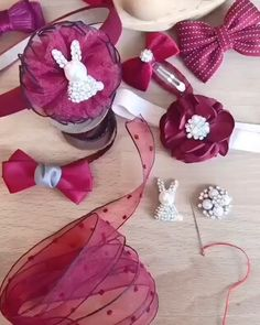 Ribbon Art, Diy Ribbon, Ribbon Crafts, Paper Flowers Craft, Flower Crafts, Fabric Flowers, Diy Hair Bows, Diy Bow, Diy Embroidery Patterns