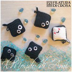 """Portachiavi razze """"dal mare"""" #handmade #amigurumi #crochet realizzati con filato """"Brilla"""" Filatura di Crosa"""