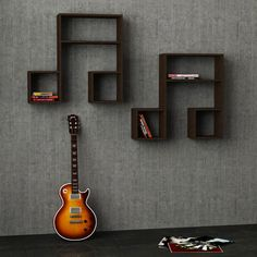 LaSiDo Wall Shelf (Set of 2) - Wondrous Furniture  - 1