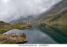 Mountain lake, Balea, Romania - stock photo