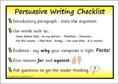 Persuasive writing checklist posters (SB7959) - SparkleBox
