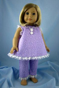 18 Inch Doll Pajamas   Lavender Summer от SewMyGoodnessShop, $18.00