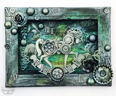 Altered Silver Horse - collage by finnabair, via Flickr