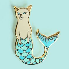 ♥+PREORDER+♥ You+folks+are+the+absolute+sweetest+to+support+my+pins!+I'm+all+out+of+Purrmaids+at+the+moment,+so+I'm+taking+preorders.+Orders+will+ship+the+second+week+of+January,+2017.  Show+your+cat+lady+&+gentleman+status+on+your+sleeve...+or+your+lapel,+or+your+hat,+or+wherever+you'd+like+w...