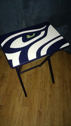 Hand Painted Seahawks Folding Table Tray