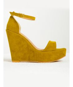 Madrid Sarı Süet Dolgu Topuklu Sandalet