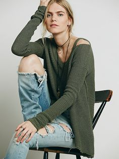 Free People Moonshine V-neck Pullover at Free People Clothing Boutique