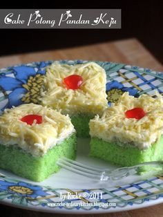 Just My Ordinary Kitchen...: CAKE POTONG PANDAN KEJU FOR ABI
