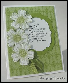 Stampin Up Trust God stamp set - stamping up north