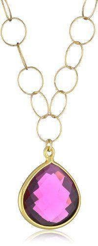 Amazon.com: Devon Leigh Fuchsia Hydro Quartz Pendant Necklace: Jewelry
