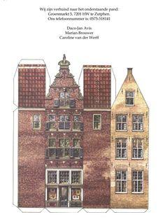 Een bouwplaat van de Rabo bank uit de jaren 60 is door ons gebruikt als verhuisbericht.