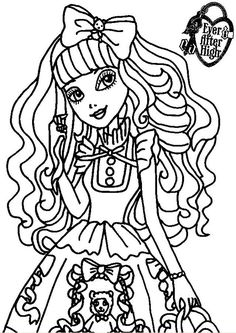 Free Blondie Lockes A Royal Young Girl In Ever After High Coloring And Printable Page